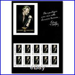 Lot De 18 Collectors Johnny Hallyday Timbres Lettres 20g (2009)