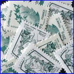 Lot De 30 Timbres Validites Permanentes Lettres Vertes 250g