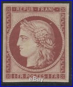 Lot N°093d France N°6f Réimpression, neuf Qualité TB