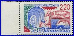 Lot N°4761 France Variété N°2556a Thermalisme Rouge au lieu de Bleu Neuf LUXE