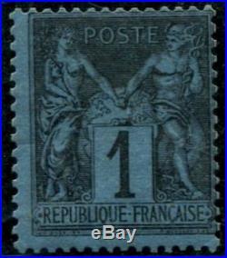 Lot N°641a France N°84 très rare Neuf Qualité TB