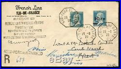 Lot N°8031 France PA N°4 Obl NEW-YORK AU HAVRE 23/8/28 s/lettre Rec. RARE