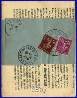 Lot N°8033 France PA N°6c E. I. P. A. 30 + compl. D'affrt sur Journal Aérogramme