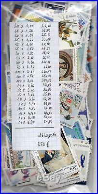 Lot Sous Faciale 250 Euros (1640 Francs) Timbres Neufs Livraison Gratuite