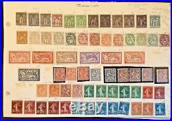 Lot/ collection timbres de France 1849-1970 dt bonnes valeurs +++