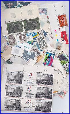Lot de 500 euros de timbres Français neuf en Francs. Faciale à -40% avec facture