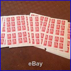 Lot de faciale 1000 timbres TVP en Carnets Affranchissement 20gr prioritaire