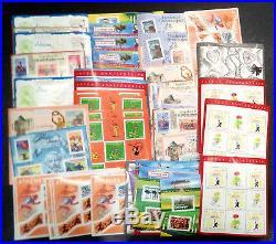 Lot de faciale 340 timbres à 0,50 (170) en Blocs pour Affranchissement