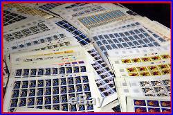 Lot de feuilles de timbres en euro neuves sous faciale
