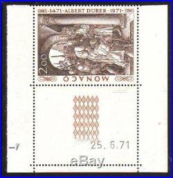 MONACO ERREUR N° 876 A ALBERT DURER au lieu ALBRECHT cote 5500 euros SUPERBE