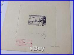 Maroc épreuve numérotée RR & timbres aviation Temara 89/92 ex-LECCESE a