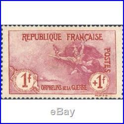 N° 154 Orphelins De La Guerre De 1917, Timbre Sans Gomme