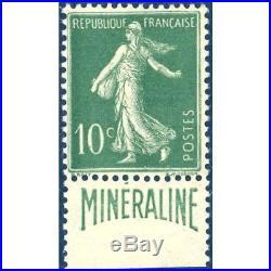 N° 188a Semeuse Mineraline 1924 Neuf