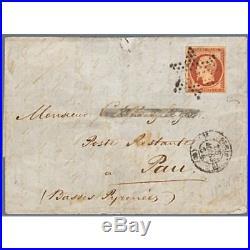N° 18 Napoleon, Oblitere Etoile Sur Lettre Cachetee, Signe Brun