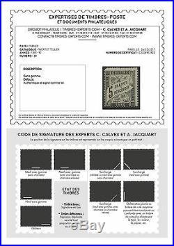 N°24 Taxe 5fr Noir Neuf sans gomme Signé Calves avec certificat