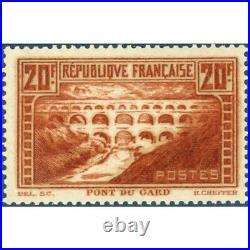 N° 262 Pont Du Gard Timbre Neuf 1929-31