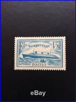 Nº 300b Normandie Turquoise Neuf Signe Certifié Au Dos TTB Choix Cote 460