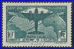N°321 Traversée de l'Atlantique 1936 10F Neuf 1936 Signé A. Brun