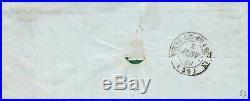 N°3 cérès 20 centimes noir oblitéré t 15 du 02 janvier 1849 sur lettre