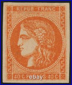 N°48, Cérès Bordeaux 40c orange, neuf quasi signé A. BRUN SUPERBE