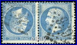 Napoléon N° 22 Paire tête-bêche. Signature. CALVES + Certificat
