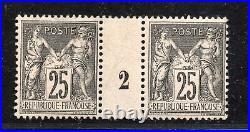 + No97/ 25C SAGE NEUF MILLESIME / rare 1892/SIGNE /COTE MINI 800 E / ++++