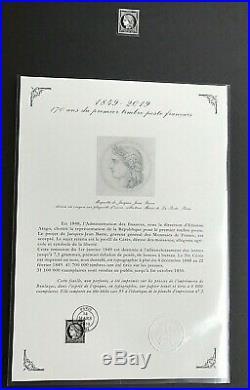 Nouv FRANCE 2019 COFFRET feuille 150 timbres 170 Ans MARIANNE CERES NOIRE