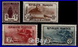 ORPHELINS Série 3, Neufs = Cote 590 / Lot Timbres France 229 à 232
