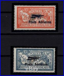 P99114/ France / Airmail / Y&t # Pa1 / Pa2 Neufs / Mint Mh / Certificate 500