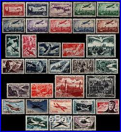 POSTE AÉRIENNE jusqu'en 1959, Neufs = Cote 780 / Lot Timbres France
