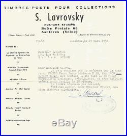 P A. N°29 a. 1950. Neuf. RRR. (Tirage 10 Ex) Certificat S. Lavrovsky
