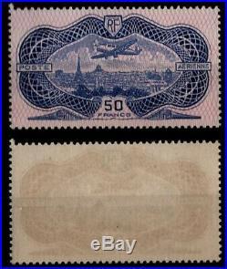 P. Aérienne Variété Burelage Inversé 15b, Neuf = Cote 850 / Timbre France