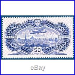Pa N° 15 Avion Survolant Paris Timbre Neuf 1936
