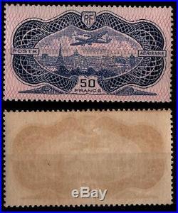 Poste Aérienne 15 AVION Burelé, Neuf = Cote 800 / Lot Timbre France