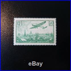 Poste Aérienne Pa N°14 Avion Survolant Paris Neuf Luxe Mnh Cote 2000