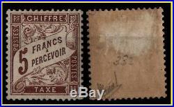RARE TAXE DUVAL 5 francs marron, Neuf = Cote 800 / Lot classique France 27