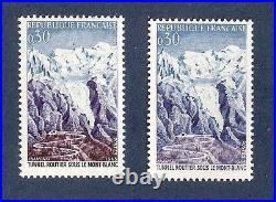 SUPERBE et RARE VARIETE MAURY N° 1454 a violet absent bleu unicolore cote 750