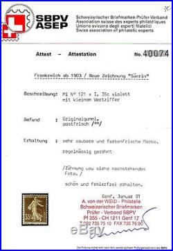 Semeuse Camée n° 136 N avec certificat