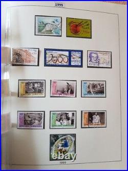 Superbe albums LINDNER années complètes 1960 à 2000 timbres neufs et oblitérés