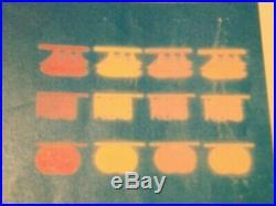 Superbe et tres rare feuille Palissy essai Burtin encre fluo et phospho