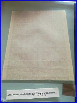 Superbe et tres rare feuille Palissy ronds de phosphore sur papier faible