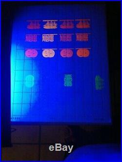 Superbe et tres rare feuille sansPalissy essai Burtin encre fluo et phospho