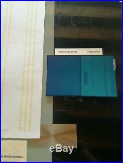 Superbe tres rare feuille essai bandes et aplat phosphore papier extra strong
