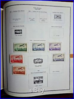 TIMBRES FRANCE DOUBLE ALBUM de + 6000 TIMBRES NEUFS et OBLITERES 1853 à 1980