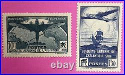 TIMBRES FRANCE TRAVERSEE DE L'ATLANTIQUE N° 320 à 321 SANS CHARNIERE (49)