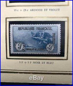 TIMBRES FRANCE YVERT 148 /155 SERIE ORPHELINS 1917 NEUFS xx avec Charnière
