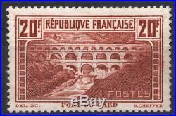 TIMBRE FRANCE Année 1930 Pont du GARD n°262c NEUF SUPERBE