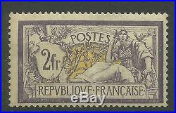 TIMBRE France TYPE MERSON N°122 SIGNÉ NEUF LUXE MNH COTE 2500