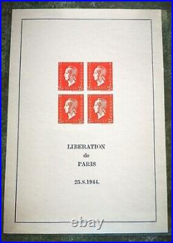 TRES RARE! 1945 BF5 Marianne de DULAC 2,40 Fr Rouge NGO