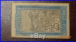 Timbre Monnaie Colonie De Madagascar Type Chien Neuf 25 Ct Rare